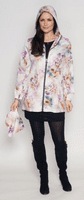 Womens Silky Lotus Print Lightweight Travel Jacket db3127